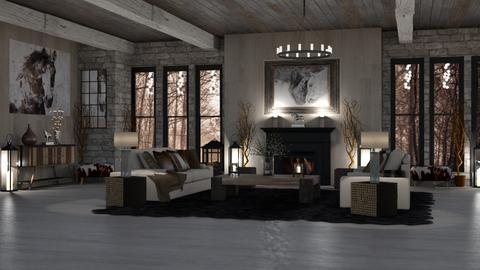 WOODY WALL - Rustic - Living room  - by RS Designs