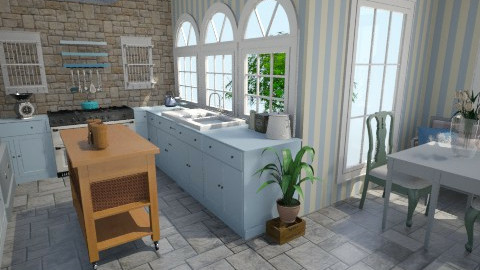 Shaker and Stone - Country - Kitchen  - by Lisett