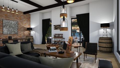 Industrial Cozy1 - Living room - by rebsrebsmmg