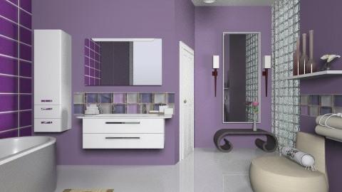 Purple Bliss - Modern - Bathroom  - by janip