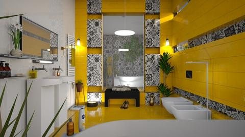 M_ Yellow bathroom - Bathroom  - by milyca8