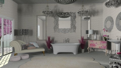 Glam Bath - Glamour - Bathroom  - by Calolynn