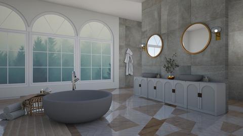 cozy misty bathroom - Bathroom  - by myaz_design