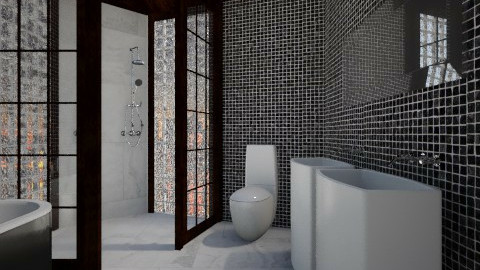 Black White Chrome - Modern - Bathroom  - by 3rdfloor