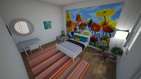 Okeefe Flower Bedroom   - Bedroom - by Starsturck