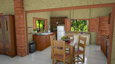 Sitio - Rustic - Kitchen  - by Mariesse Paim