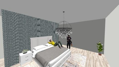 modern bedroom With btr - Modern - Bedroom  - by bellaprut