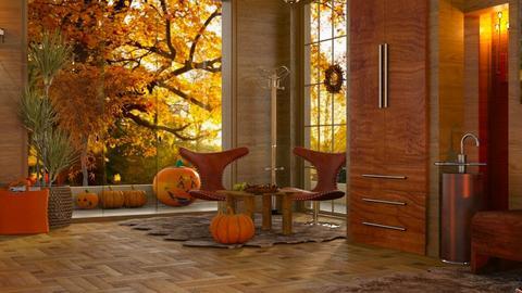 Autumn Hall - Living room  - by ZsuzsannaCs