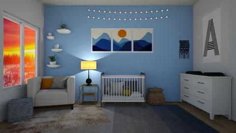 Blue - Kids room - by thomanjenna