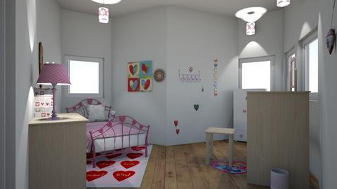 hearts and more hearts - Bedroom - by 29catsRcool