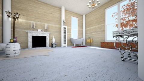Warm Blue 321 - Eclectic - Bathroom  - by decordiva1