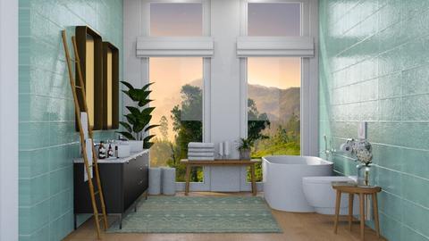 Delhi Master Bathroom - Bathroom  - by sabaclayes
