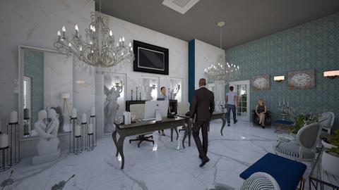 Hotel_Reception_Interior_ - Modern - Living room - by Nikos Tsokos