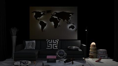 Travel minimalism - Living room  - by nat mi