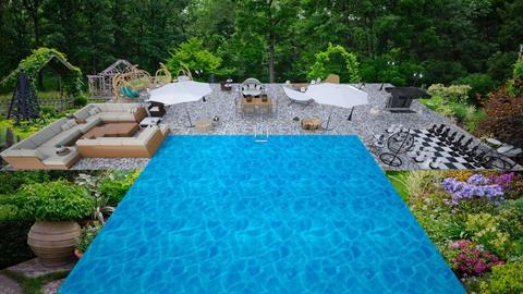 Garden With A Pool - Garden - by Festoronie