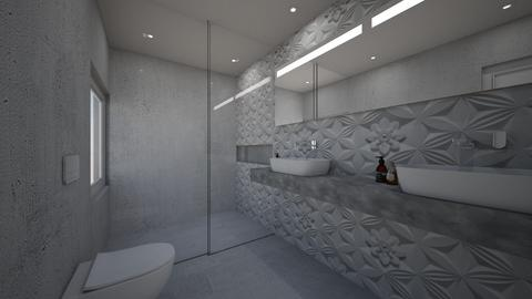 concrete - Bathroom  - by Talles Paganotti