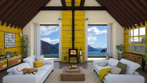 Hive Inspired - Living room  - by Nicky West