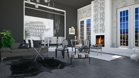 dark ceiling - Living room  - by Svetlana Baitchourina