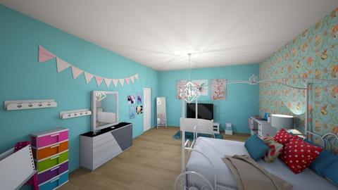 Blue - Feminine - Kids room - by elizabethwatt16