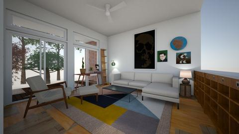 living room double rug - Living room - by flandersart