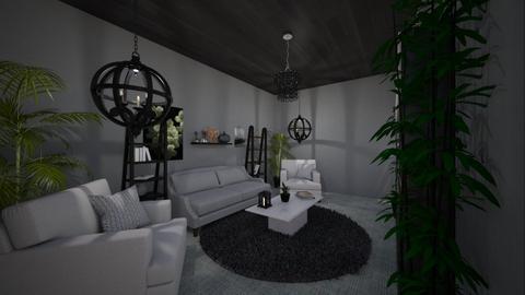 Mayaman na Plantita Haven - Rustic - Living room  - by NobodyAndBread