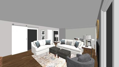 Barber Den sofa and love - Living room  - by gloriafox
