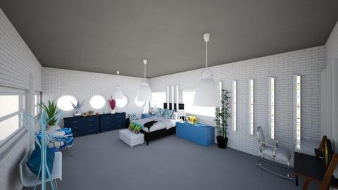Quarto Azul - Modern - Bedroom  - by anamsatyro