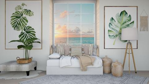 Peaceful  - Minimal - Bedroom  - by LuluDesignStyle