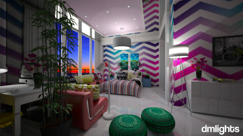 vibrant suite - Modern - Bedroom  - by Evangeline_The_Unicorn