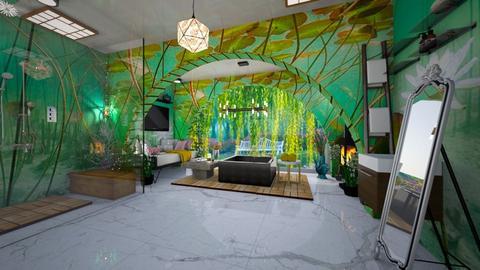 LilyPond Oasis - Bathroom  - by ArtLiveRepeat