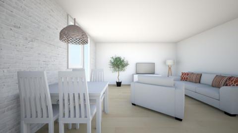 juustyna biala cegla 2 - Minimal - Living room  - by juustyna