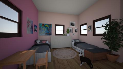 big sis and lil sis room - Vintage - Bedroom - by bethnay A