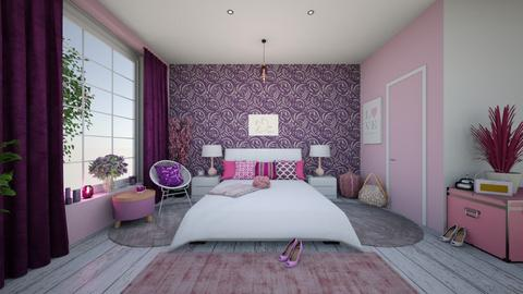Pink and Purple - Bedroom  - by LixieG