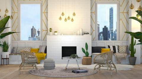 Mustard - Modern - Living room  - by NEVERQUITDESIGNIT