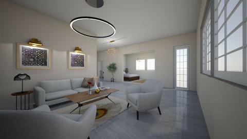 grey brain - Living room - by Edyta Bak