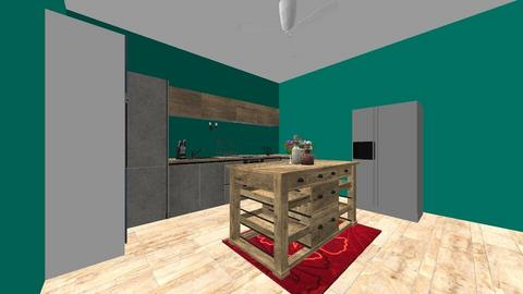 tiny house kitchen  - Kitchen  - by Johanna Geary