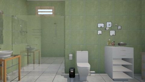 baño tropical - Minimal - Bathroom  - by Jen Guerra