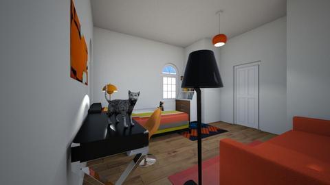 Orange Bedroom - Bedroom  - by Snowball Styler
