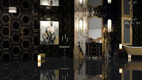 GOLD AND GLITZ BATHROOM - Classic - Bathroom  - by RS Designs