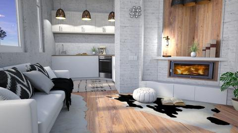 _Small_Style_ - Modern - Kitchen  - by NEVERQUITDESIGNIT