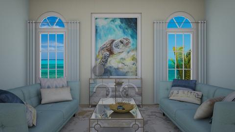 Turtles Wave - Living room - by CosmicDesigns