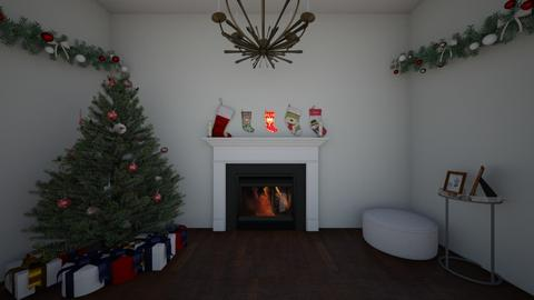 Christmas Wall - Modern - Living room  - by AbigailTrice34