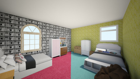 2 rooms in 1 - Modern - Bedroom - by saio9