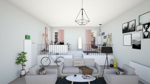 Cozy Studio - Minimal - Living room  - by irug19_