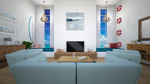 house on the coast - Living room  - by tigerlily_bel