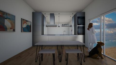 BLACK KITCHEN  - Kitchen  - by Lore_8070