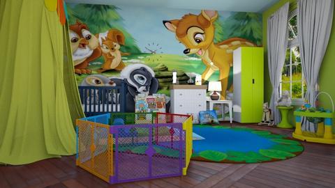 Bambi - Kids room  - by rechnaya