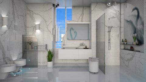 M_ Blue swan - Bathroom  - by milyca8