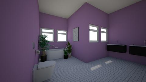 Lavender Bathroom  - Bathroom  - by RosieDraws