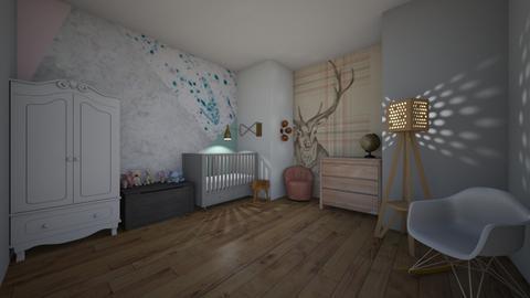 pastel bedrom - Kids room  - by MPB007